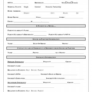 Zoufan Patient Registration Form
