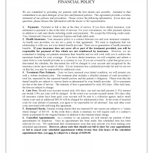 Financial Policy Disclosure 2-5-15